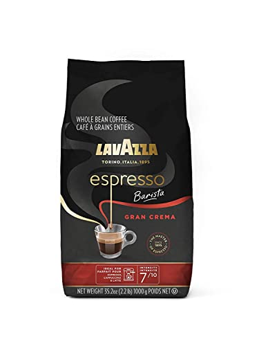 Lavazza Espresso Barista Gran Crema Whole Bean Coffee Blend Medium Espresso Roast Oz Bag (Packaging May Vary) Barista Gran Crema - 2.2 LB 35.2 Ounce
