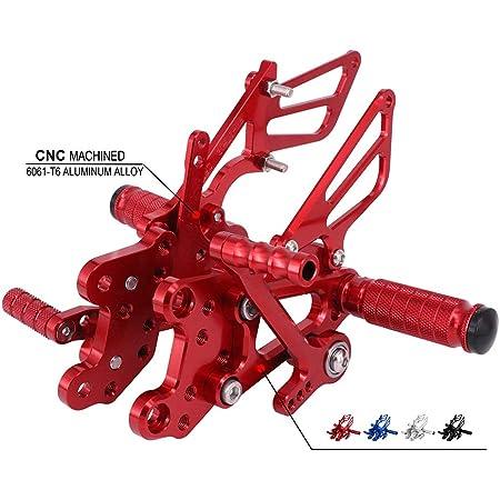 Jfg Racing Motorrad Rearsets Cnc Verstellbare Hintere Fußrasten Fußstütze Für Honda Cbr600rr 07 15 Rot Auto
