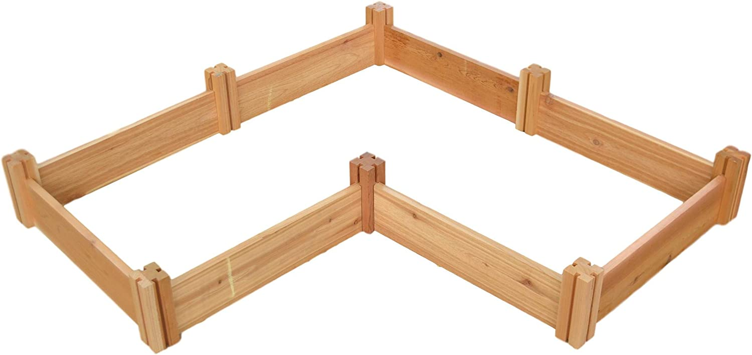 Poole and Son's Rustic Solid OFFer Garden Kit Wooden New Shipping Free Shipping Cedar Raised
