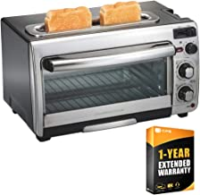 Hamilton Beach 31156 2-in-1 Combination Oven & Toaster Bundle with 1 Year Extended Warranty