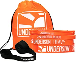 Undersun The 5-Band Complete Exercise Band Set Includes 5 Different Levels of Resistance Bands from X-Light, Light, Medium...