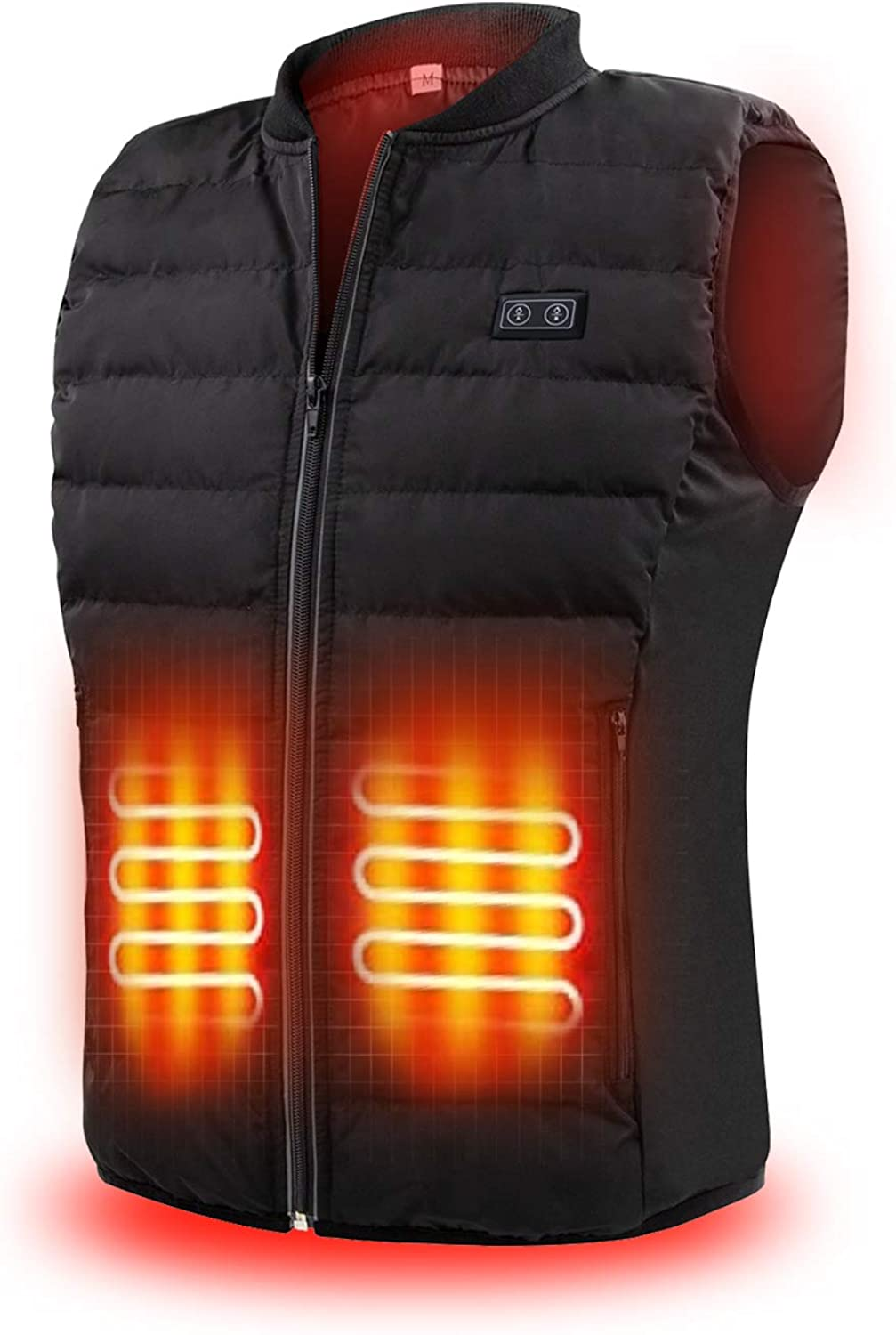 7.4V Heated Vest Lightweight Washable Heating Jacket Rechargeable Battery Pack