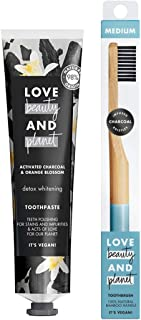 Love Beauty and Planet Detox Whitening Activated Charcoal and Orange Blossom Toothpaste, 75ml + Toothbrush, 1pc