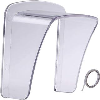Rurumi インターホン ドアホン レイン カバー 取付け両面テープ 付 4mm 強化 アクリル製 玄関 雨よけ 工事不要 簡単 取付け