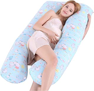 Paradesour - Almohada para embarazo, cuerpo completo, almohada de maternidad, en forma de U, contorneada, cojín de apoyo para mujeres embarazadas y lactancia, 130 x 72 cm