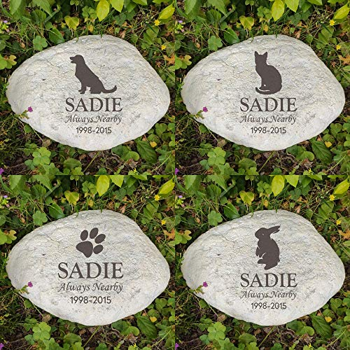 MARYTUMM Personalized Pet Memorial Stone by Waterproof Resin, Custom Pet Stone Markers, Pet Keepsake Gift, Dog Loss Gift, Cat Sympathy Gift
