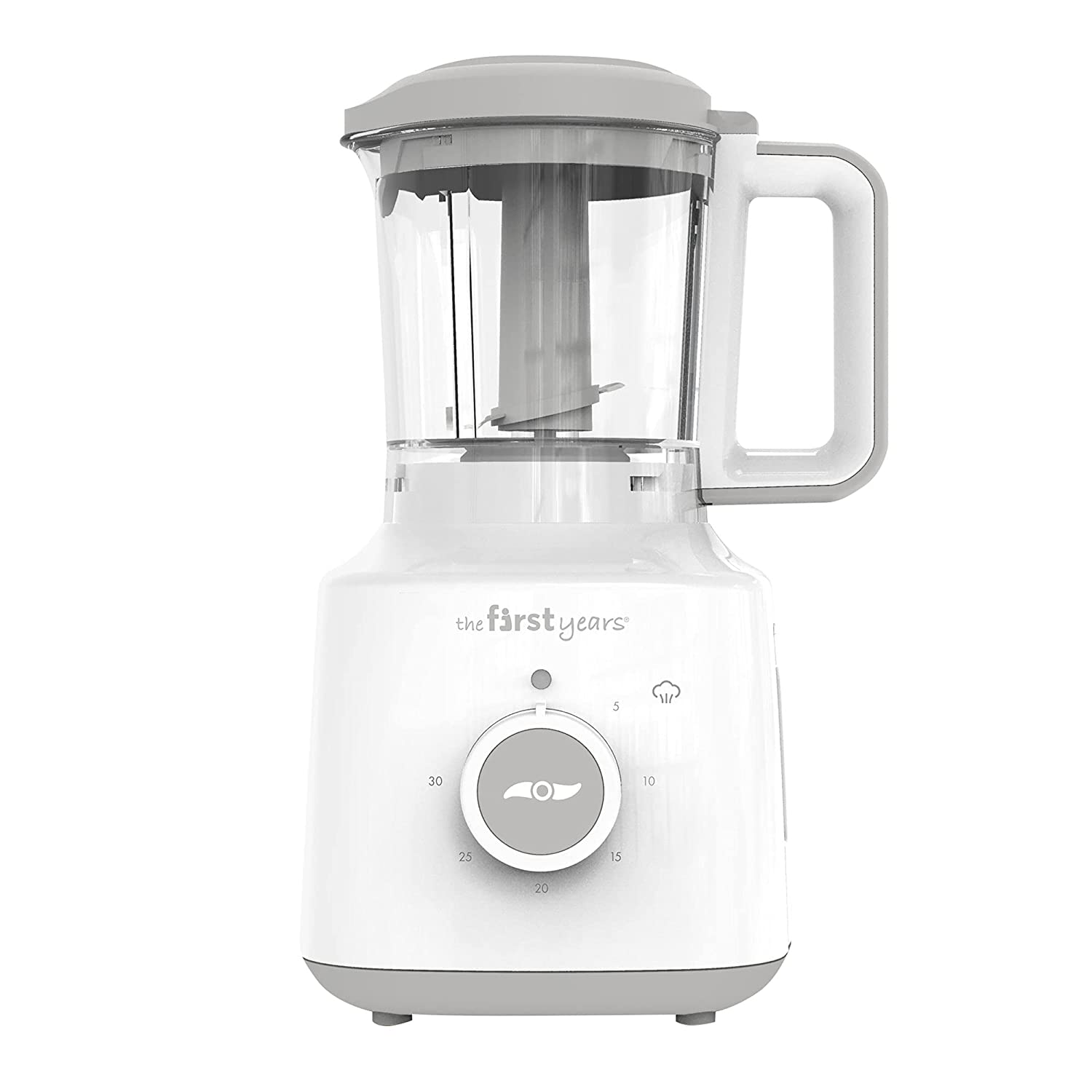 The First Years First Fresh Foods Blender & Steamer - Baby Food Maker for Healthy Homemade Baby Food – Easy-to-Clean Baby Food Processor – 3.5 Cup Capacity