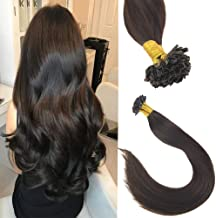 Sunny 18inch U Tip Remy Hair Extensions Human Hair,Pre Bonded Remy Keratin Fusion Hair Extensions,#2 Darkest Brown U Tip Hair Extensions Total 50g 1G/S