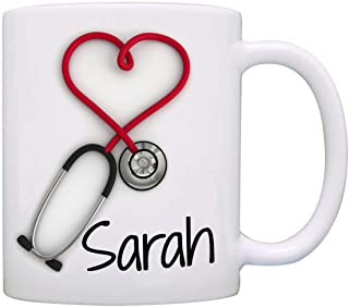 Personalized!! Stethoscope Coffee Mug, a Funny and Unique Gift for Nurses and Doctors,..