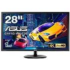 【タイムセール】 ASUS ゲーミングモニター 28型FPS向き/4K/3840×2160/1ms/TN/HDMI×2/DP/FreeSync/ブルーライト軽減/VESA/3年保証 VP28UQGが激安特価!