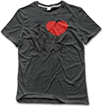 MZONE Men's I Love NY Heart New York Particular T-Shirt DeepHeather