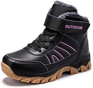 Alebaba - Botas de senderismo para mujer, botas de nieve, cálidas para invierno, de felpa, con plataforma para mujer, bota...