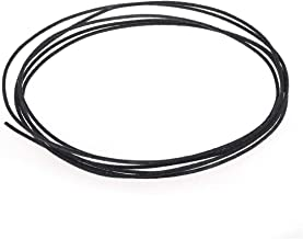 Musiclily Pro 22 AWG Gauge Vintage Style Pre-tinned Push-back Cloth Covered Stranded Wire, Black 6 Feet (2 Meters)