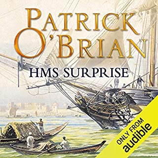 H.M.S. Surprise     Aubrey-Maturin Series, Book 3              By:                                                                                                                                 Patrick O'Brian                               Narrated by:                                                                                                                                 Ric Jerrom                      Length: 15 hrs and 1 min     74 ratings     Overall 4.8