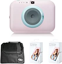 LG PC389P Pocket Photo Snap Instant Camera and Photo Printer Bundle with Camera Bag for DSLR and 2X Pocket Photo Paper
