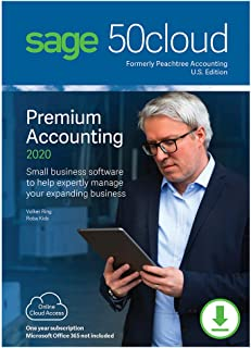 Sage 50cloud Premium Accounting 2020 U.S. 5-User One Year Subscription [PC Download]
