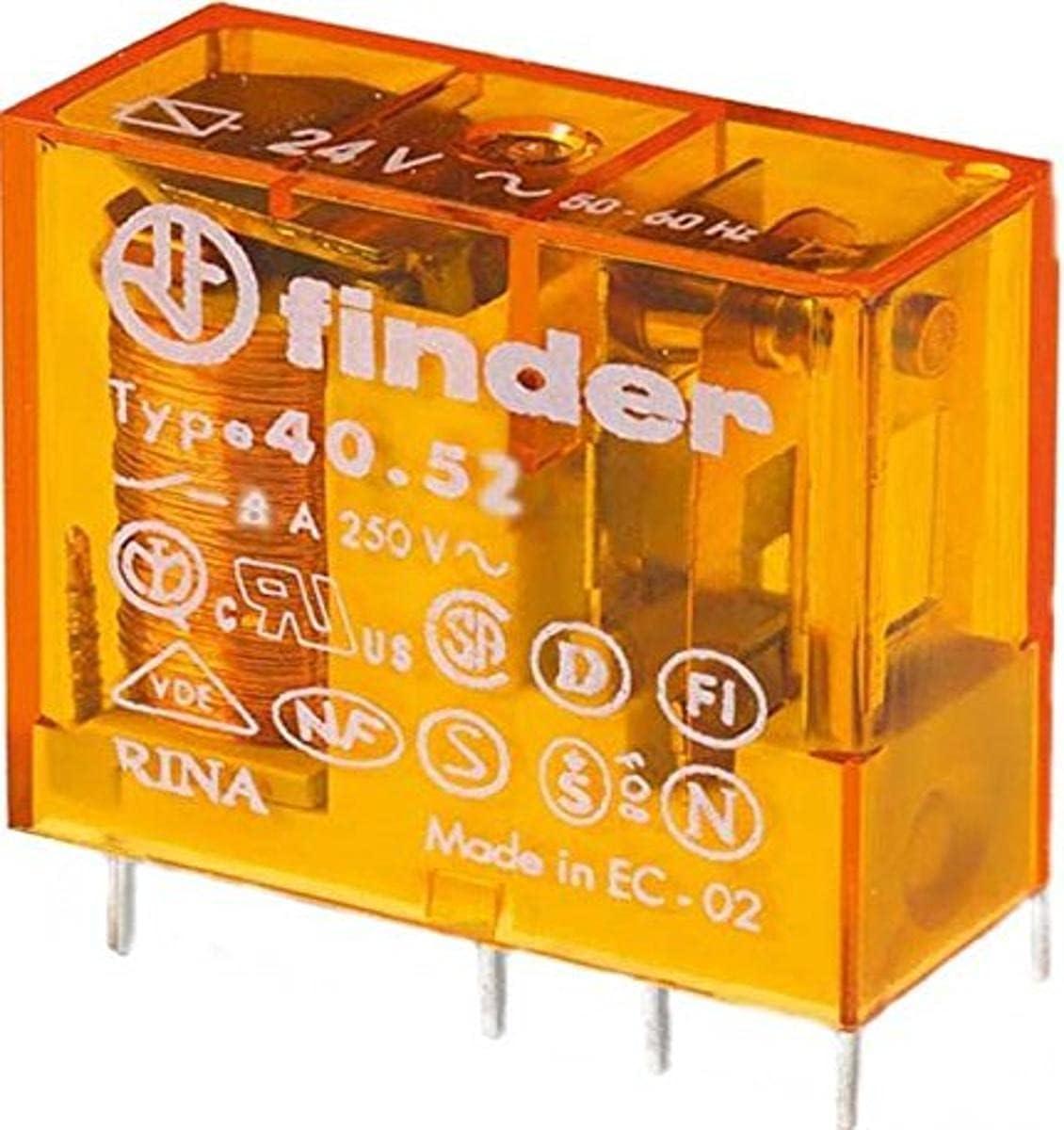 Finder serie 40 - Rele mini reticulado 5mm 2 conmutado 8a 24vac