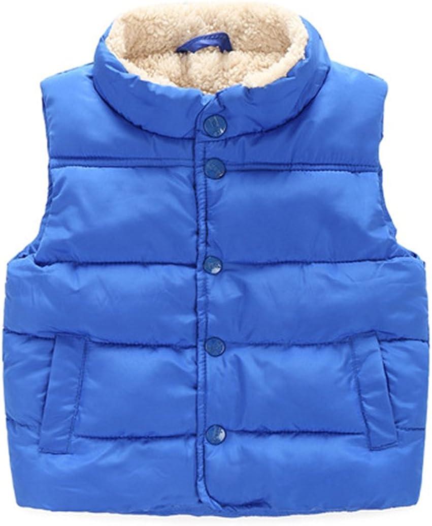 Happy Cherry Kids Fleece Winter Vest Warm Cotton Jacket Outwear for Boys Girls