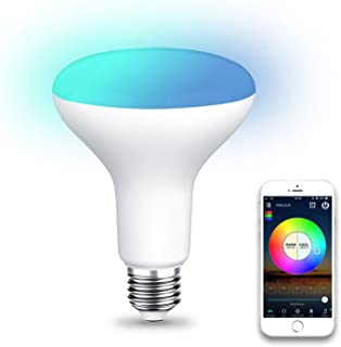 TOOGOO WiFi BR30 LED Flood Light Bulb, Tunable White & Color Changing Smart Flood Light Bulb, Compatible with Alexa & Google Home Assistant