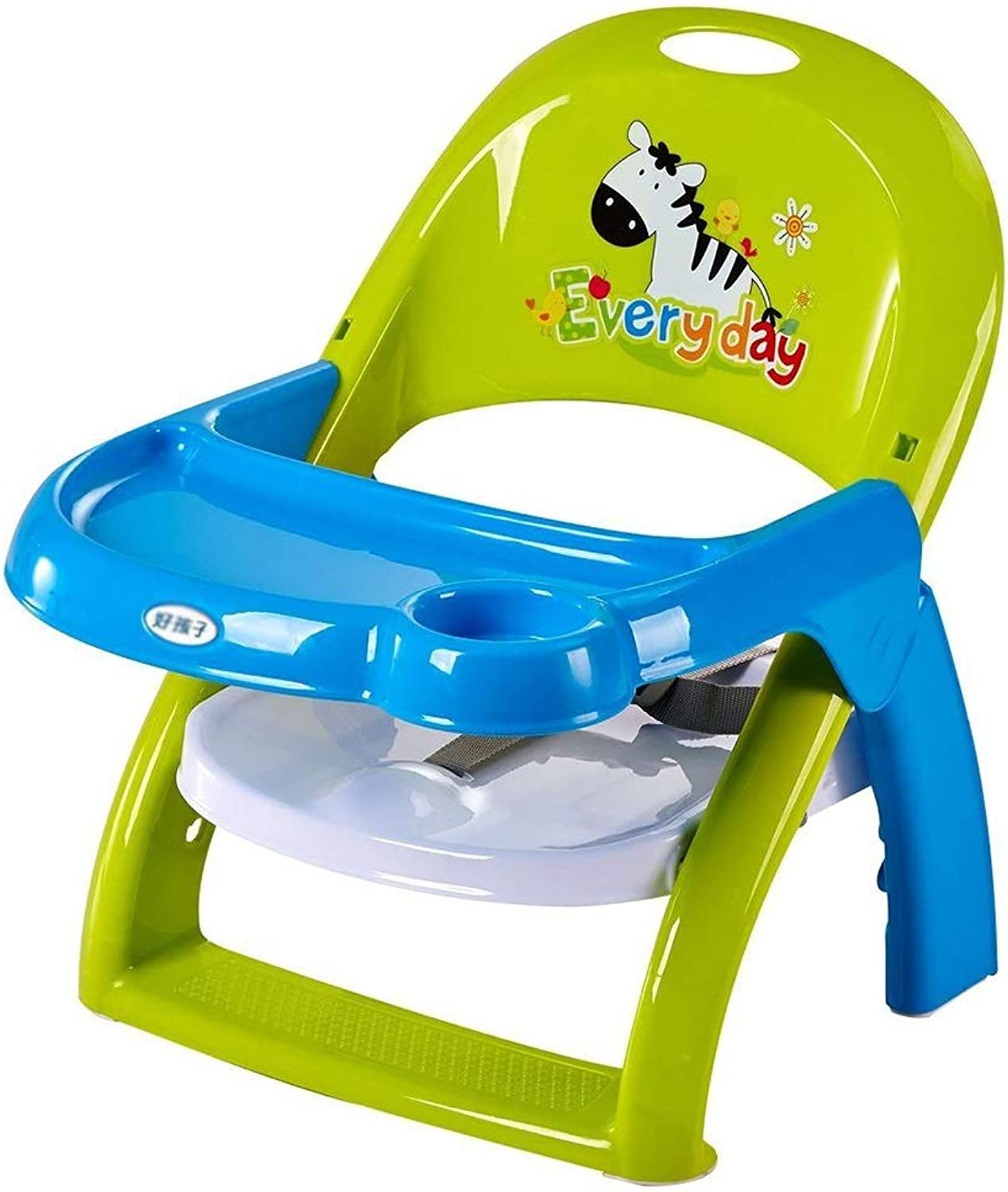 LXLA - Plastic Fold Booster Feeding Seat High Chair for Baby and Toddlers Dining
