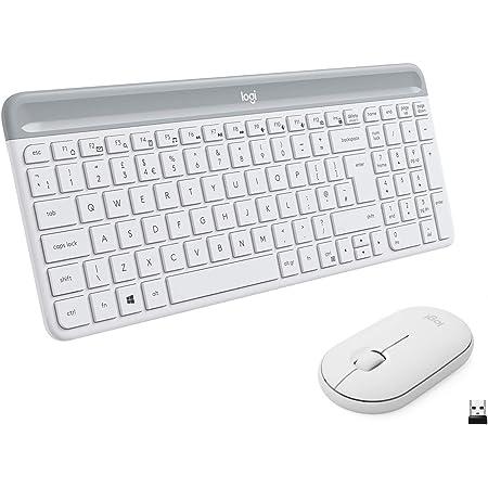 Logitech MK470 Combo Teclado y Ratón Inalámbrico para Windows, Disposición QWERTZ Alemán, Blanco