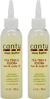 Cantu Shea Butter Tea Tree & Jojoba Hair & Scalp Oil 6oz Pack of 2