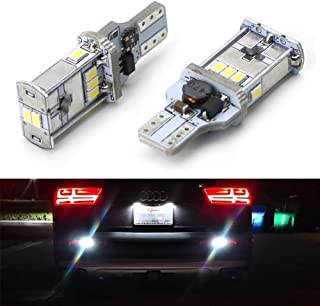 iJDMTOY Exclusive Designed CAN-bus Error Free Xenon White LED Backup Light Bulbs For Audi Q3 Q5 Q7 (No Bulb Out Warning)