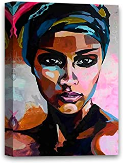 Funny Ugly Christmas Sweater African Woman Canvas Painting African Lady Portrait Colorful Artwork for Bedroom African Fine Art Print African Woman Framed Artwork 8