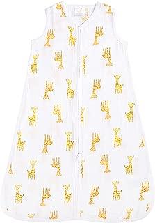 aden by aden + anais Classic Sleeping Bag, 100% Cotton Muslin, Wearable Baby Blanket, Safari Babes, Giraffe, Large, 12-18 Months
