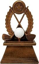 Golf Wreath Trophy - Golf Tournament Resin Award - 7 Inch Tall - Customize Now - Decade Awards
