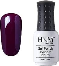 Gel Nail Polish, HNM Color Varnish Lacquer Shiny UV LED Soak Off Nail Art Manicure Salon 8ml Love Me Like A Vamp (1578)