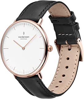 Native Scandinavian Rose Gold Analog Watch with Leather or Mesh Interchangeable Straps