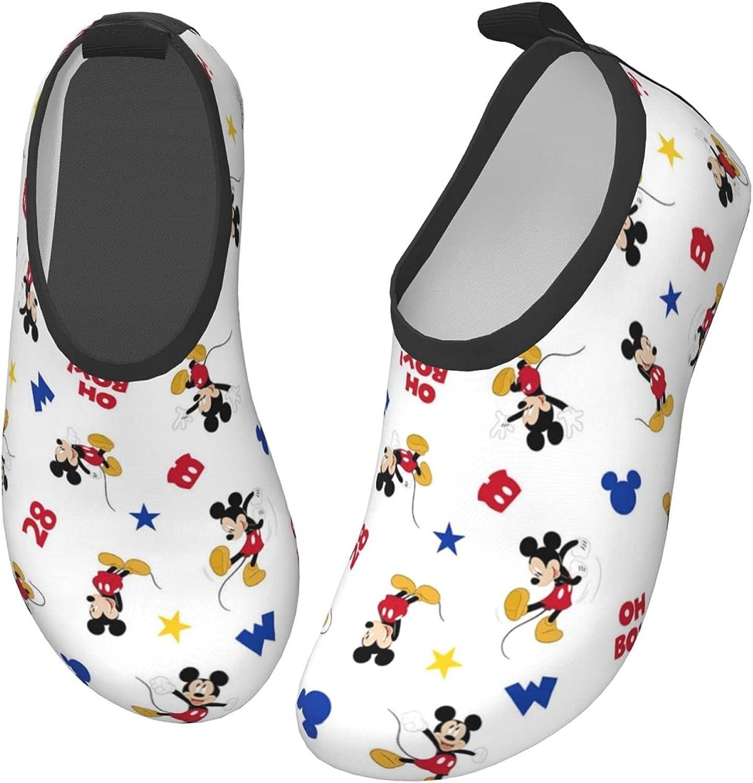 Mickey Mouse Toddler Kids Swim Water Shoes Lightweight Barefoot Non-Slip Aqua Socks Beach Swimming Surf Walking for Boys Girls