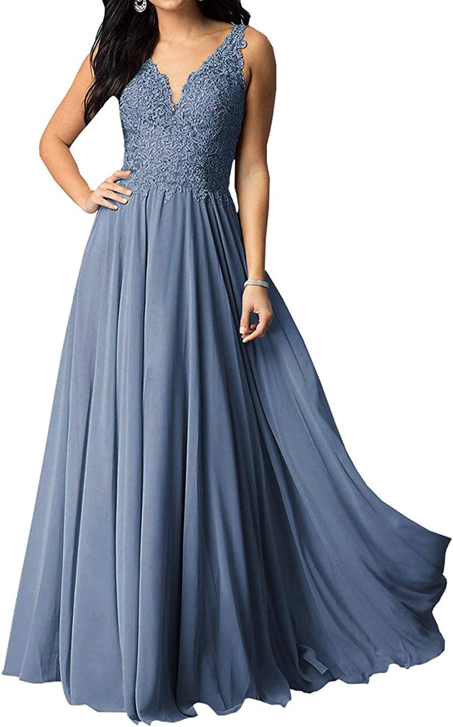 ShipXO Women's V Challenge the lowest price of Japan ☆ Neck online shopping Beaded Prom Dress Evening Lace Wedding Bri