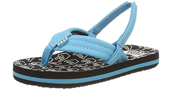 Reef Boys AHI Beach Sandal Blue//Green 078 M US Little Kid