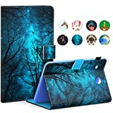 Galaxy Tab E 8.0' Tablet Case, Samsung T377 Case, Dteck PU Leather Stand Case [Multiple Viewing Angles] with Card & Cash Holder for Galaxy Tab E 8.0 SM-T377 Tablet, Green Forest