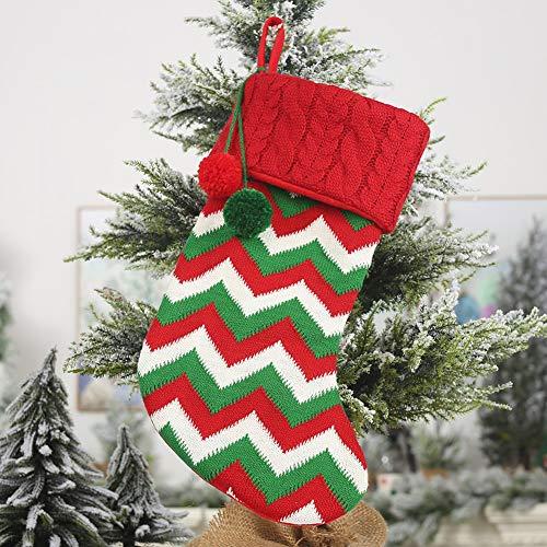 Longzhuo Sinterklaarzen om te vullen en op te hangen, kerstkous, Sinterklaas groot, Sinterklaas met kerstborduurwerk, hangende kousen voor kerstdecoratie 5