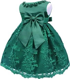 Baby Girl's Newborn Bowknot Gauze Christening Baptism Dress Infant Flower Girls Wedding Dresses 13 Color