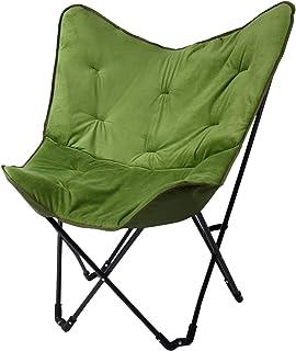 BARABRA フォールディングソファ 折りたたみ バタフライチェア 耐荷重150kg 椅子 チェアー ハイバッグ 軽量 インテリア アウトドア
