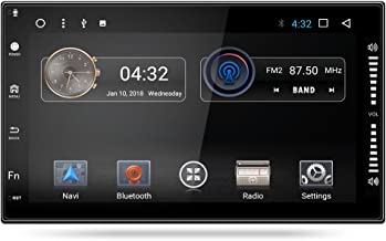 Yingly Android 7.1 Metal Frame Double Din 7 inch Universal Car Stereo System for Nissan/X-trail Car Radio Player with GPS Navigation Bluetooth FM AM Radio Support 1080P 2K 4K Video 4G USB Host