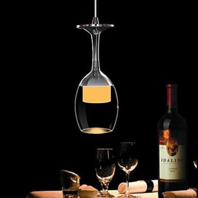 RXFRD 3W LED Cup Leuchter-Licht Weinglas Pendelleuchte Für Wohnzimmer Bar Salon Esszimmer 220-240V M2913 [Energieklasse A +]