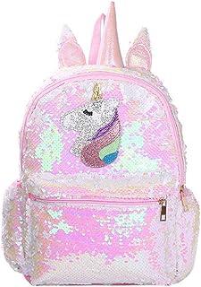 Mochila de Unicornio Mochila de Lentejuelas Reversible Linda Mochila de Lentejuelas Flip para niñas