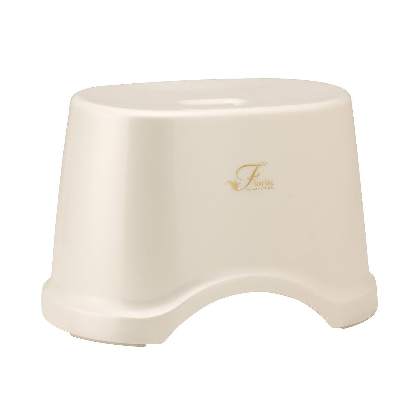 無秩序ジョージハンブリー強いレック Florist 風呂いす 高さ22cm ホワイト (風呂椅子 バスチェア) B-961
