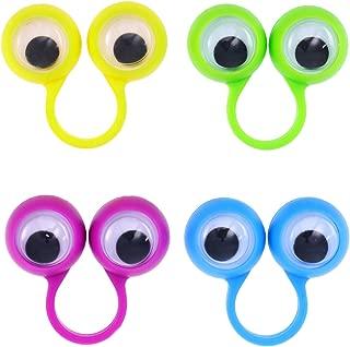 bulbi oculari Giocattolo ad Anello con Anello per bulbi oculari di Colore Brillante Regalo per Giocattoli Regalo per Bambini Goefly Marionette da Dito per Occhi 30 pz