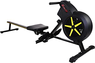 Everfit Rowing Machine Adjustable Air Resistance System Rower 8-Level Resistance 150kg Capacity LCD Monitor Moveable & Fol...