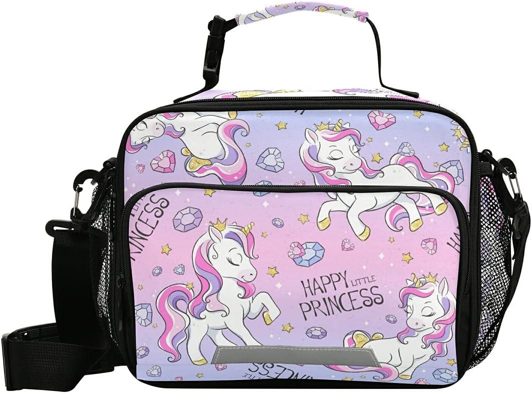 Cute Unicorn Kids Lunch Box Pink Boys Girls Columbus Mall Insulated Bag Genuine