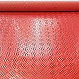 WCS Baño Cocina Alfombra de PVC, Alfombra Impermeable Alfombra de baño y Alfombra de Ducha, Alfombra Lavable, Sala de Estar, Baño, Espesor de la Cocina 1.5 mm (Color : Red, Size : 1.2m x 2.5m)