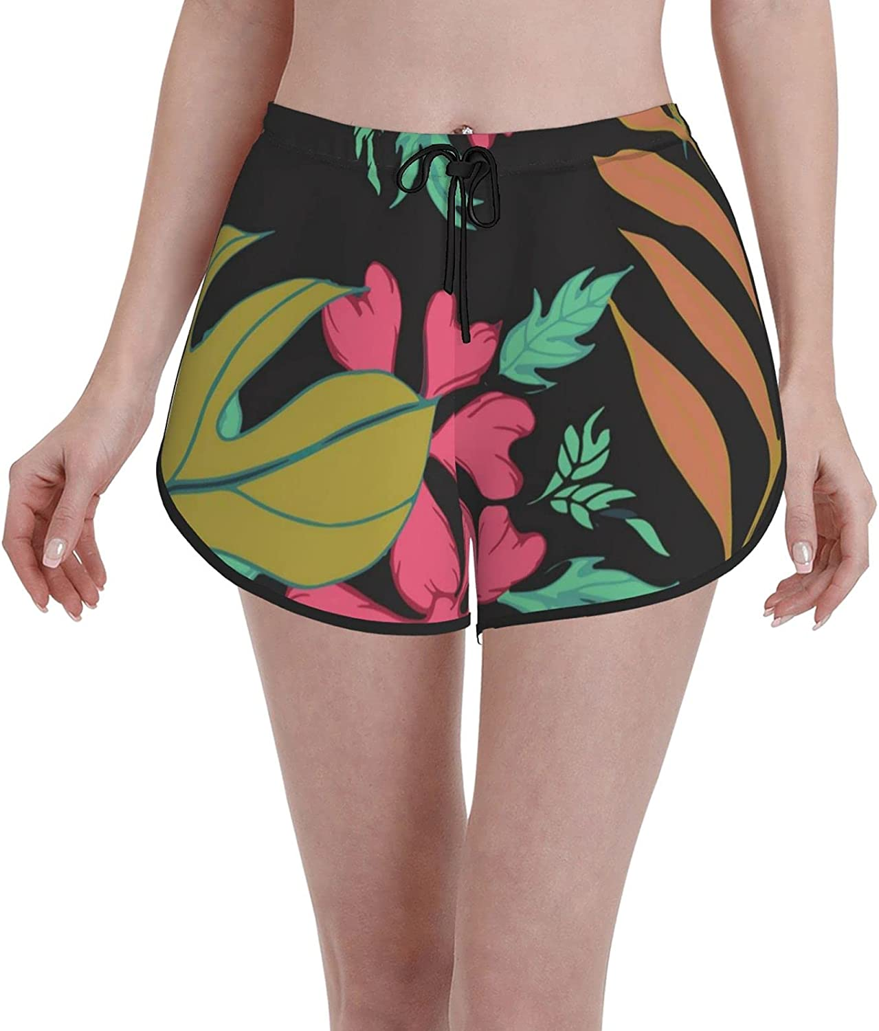 35% OFF Swim Shorts Tropical Plant Leaves Casual Short Sports Daily bargain sale Trunk