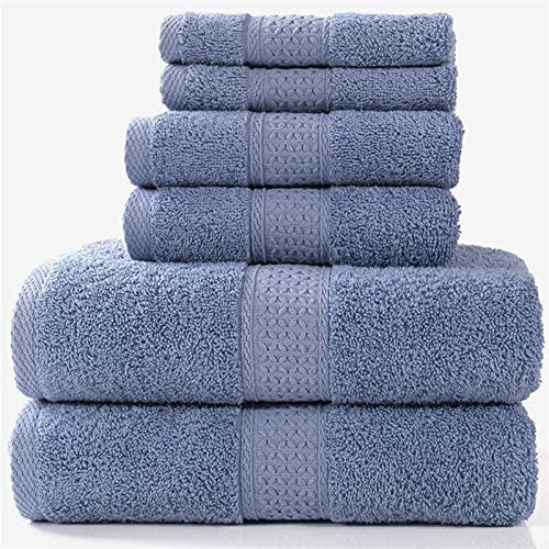 PPCERY Conjunto de Toallas de baño de Lujo, 2 Toallas de baño Grandes, 2 Toallas de Mano, 2 toallitas.Toallas de baño Altamente absorbentes de algodón Suave de Calidad del Hotel.