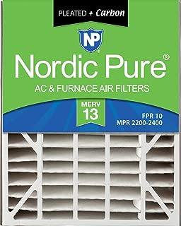 Nordic Pure 20x25x5 (4-7/8 Actual Depth) MERV 13 Plus Carbon Trion Air Bear Replacement AC Furnace Air Filter, Box of 2